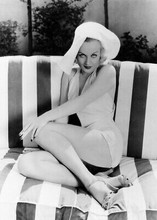 Carole Lombard 1930's sexy pin-up leggy pose 5x7 inch real photo