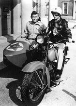 Andy Griffith Show 5x7 inch photo Andy Don Knotts police bike sidecar 5x7 photo