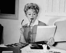 Lucille Ball rare 1960's in her dressing room reading script 8x10 Photo