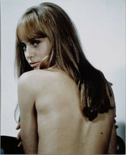 Susan George sexy 1967 pose looking over shoulder with bare back 8x10 photo