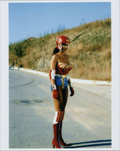 Lynda Carter full length pose as Wonder Woman in outfit and helmet 8x10 photo