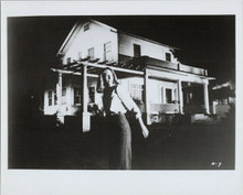 Halloween Jamie Lee Curtis in front of Strode house in Haddenfield 8x10 photo