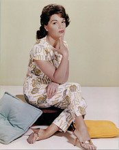 Connie Francis seated on stool in studio circa 1963 8x10 photo