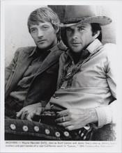 Lancer 1968 western TV Wayne Maunder & James Stacy as Lancer brothers 8x10 photo