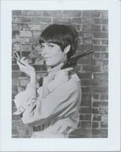 Barbara Feldon as Agent 99 holding make-up & gun Get Smart 8x10 photo