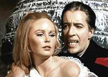Dracula Has Risen From The Grave Christopher Lee bites Veronica Carlson 5x7