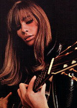 Francoise Hardy 1970 in concert pose playing guitar 5x7 inch press photo