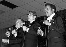 Frank Sinatra Dean Martin Sammy Davis Jnr in concert 5x7 inch press photo