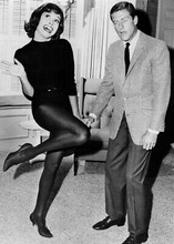 Dick Van Dyke Show 5x7 inch real photo Mary Tyler Moore in leotard with Dick