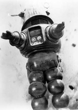 Forbidden Planet Robby the Robot in rock fall 5x7 inch photo