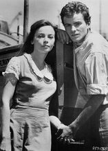 Fanny 1961 Leslie Caron holds hands with Horst Buchholz 5x7 inch photo