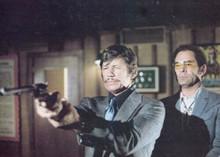 Death Wish 1974 Charles Bronson aims gun Stuart Margolin behind him 5x7 photo