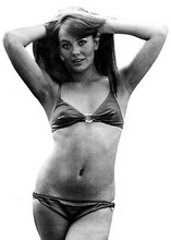 Lesley Anne Down in tiny bikini 1973 publicity pin-up 5x7 inch press photo