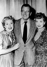 John Wayne poses with Vivian Vance & Lucille Ball 5x7 inch press photo