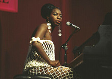 Nina Simone High Priestess of Soul 5x7 inch press photo seated at piano