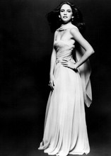 Melissa Gilbert full length glamour pose in low cut gown circa 1980's 5x7 photo