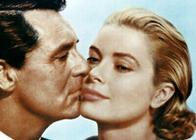 To Catch A Thief Cary Grant kisses cheek of Grace Kelly 5x7 inch real photo