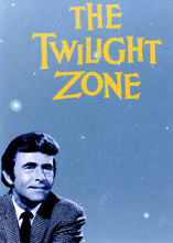 The Twilight Zone 5x7 inch real photo Rod Serling beneath Twilight Zone logo