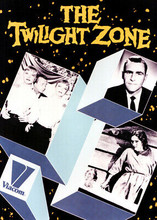 The Twilight Zone 5x7 inch real photo Rod Serling with logo & 2 episode pics