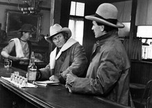 Tom Horn 1980 movie Steve McQueen Billy Green Bush in bar 5x7 inch real photo