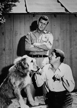 The Andy Griffith Show 5x7 inch real photo Andy Jim Nabors and dog 5x7 inch phot
