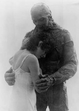 Swamp Thing 1982 Dick Durock as Swampy comforts Adrienne Barbeau 5x7 inch photo