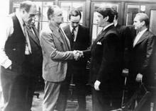 The Godfather Marlon Brando shakes hands with Al Lettieri 5x7 inch photo