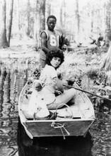 Swamp Thing 1982 Adrienne Barbeau Reggie Batts on boat in swamp 5x7 photo