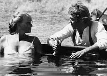 Tom Horn 1980 Steve McQueen holds hand of Linda Evans 5x7 inch real photo
