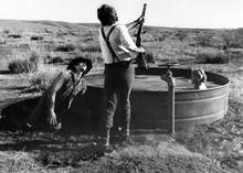 Tom Horn 1980 movie Steve McQueen rifle butts man beside Linda Evans 5x7 photo