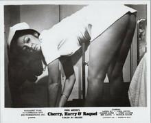 Cherry Harry & Raquel original 1969 8x10 photo Uschi Digard bends over as nurse
