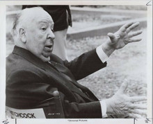 Alfred Hitchcock original 8x10 photo in directors chair on set Family Plot