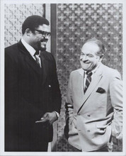 Bob Hope talking to Roosevelt Grier on TV show original 8x10 photo 1970's