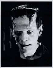 Boris Karloff gives scary stare as Frankenstein 8x10 photo