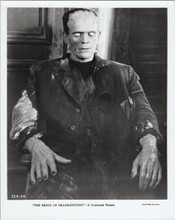 Boris Karloff The Bride of Frankenstein as The Monster sits in chair 8x10 photo