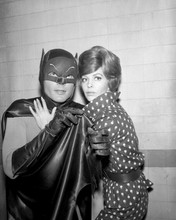 Batman TV series Adam West as Batman poses with Jill St John as Molly 8x10 photo