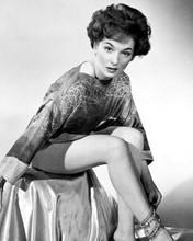 Barbara Shelley leggy pin-up pose 1950's full length seated 8x10 photo