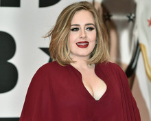 Adele Candid Photo Print In Red Dress 8X10