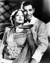 Clark Gable in white tuxedo with unidentified actress 8x10 photo