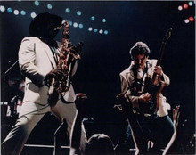 Bruce Springsteen plays guitar on stage 1980's 8x10 photo
