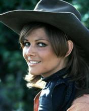 Claudia Cardinale smiling portrait in black western hat 8x10 photo