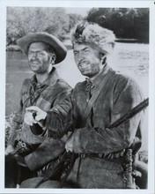 Davy Crockett Buddy Ebsen Fess Parker cross river on ferry 8x10 photo