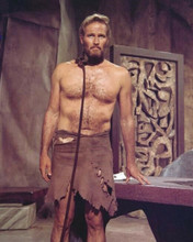 Charlton Heston bare chested as Taylor in court room Planet of the Apes 8x10