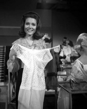 Diana Rigg holds nightdress smiling The Avengers TV series 8x10 photo