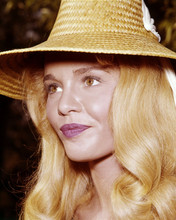 Dyan Cannon young pose in straw hat 8x10 photo