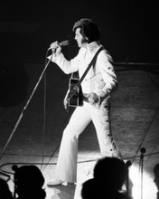 Elvis Presley in concert 8x10 press photo The King wears jump suit with guitar