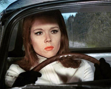 Diana Rigg wears red lipstick driving car as Emma Peel The Avengers 8x10 photo