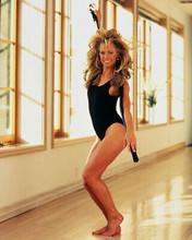 Farrah Fawcett 8x10 Photo Barefoot Sexy Leotard Working Out