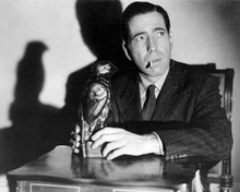 Humphrey Bogart iconic smoking cigarette holding bird The Maltese Falcon 8x10