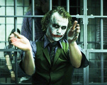 Heath Ledger as The Joker in jail cell 8x10 photo